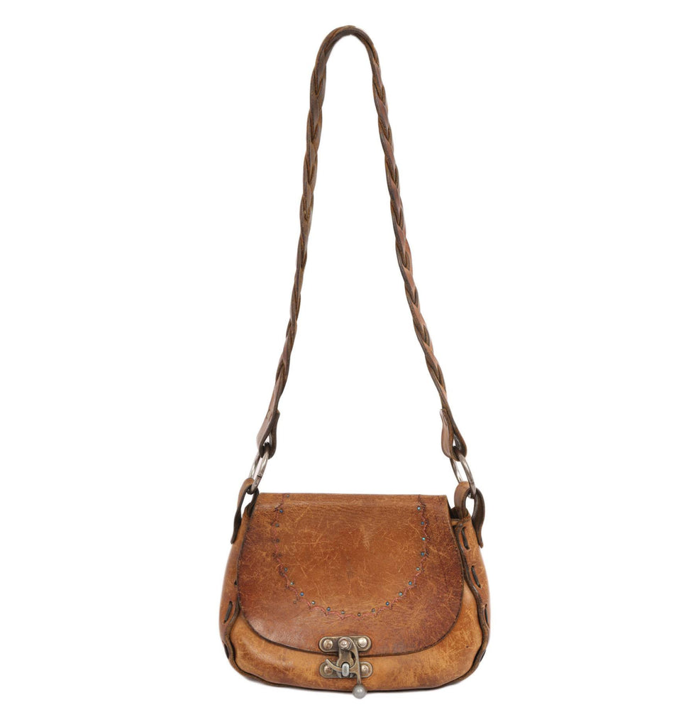 Vintage Leather Tooled Bag