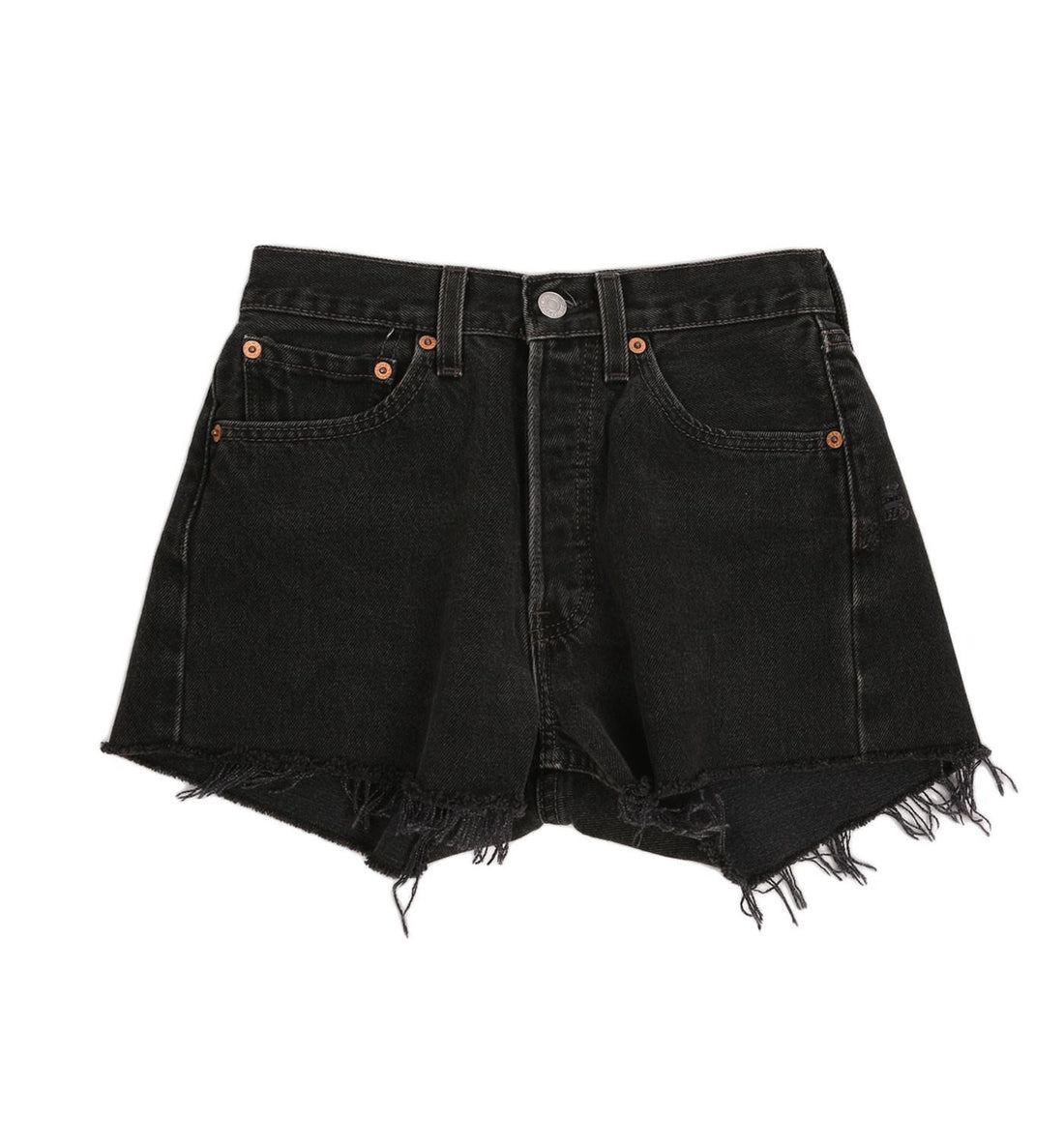 Vintage 70s Levis 501 Black Cutoffs - Vintage: Women's: Apparel - Iron and Resin