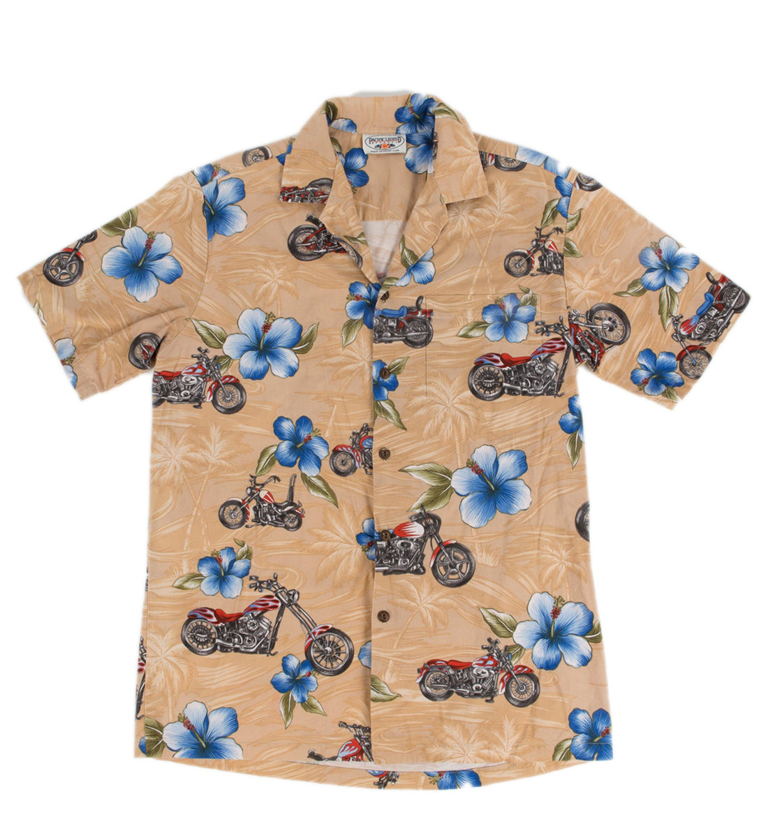 Vintage Motorcycle Button up Shirt - Vintage - Iron and Resin