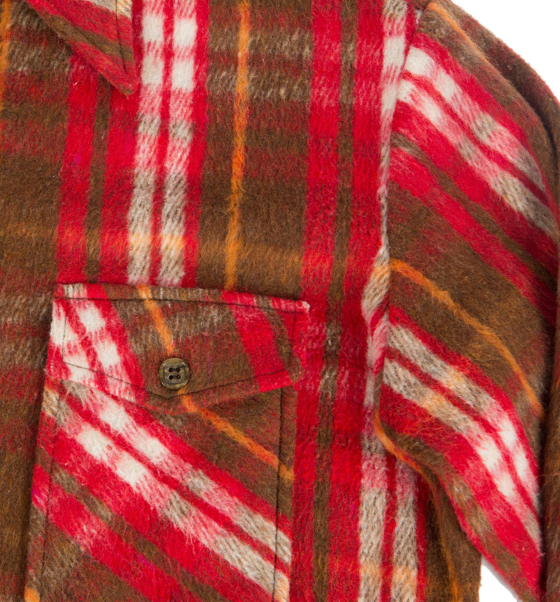 Vintage Red Plaid Lined Flannel - Vintage - Iron and Resin