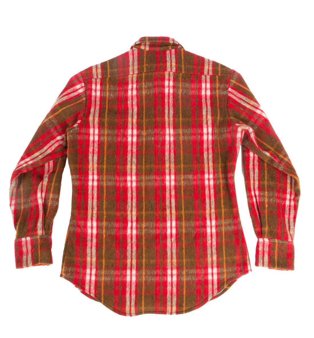 Vintage Red Plaid Lined Flannel