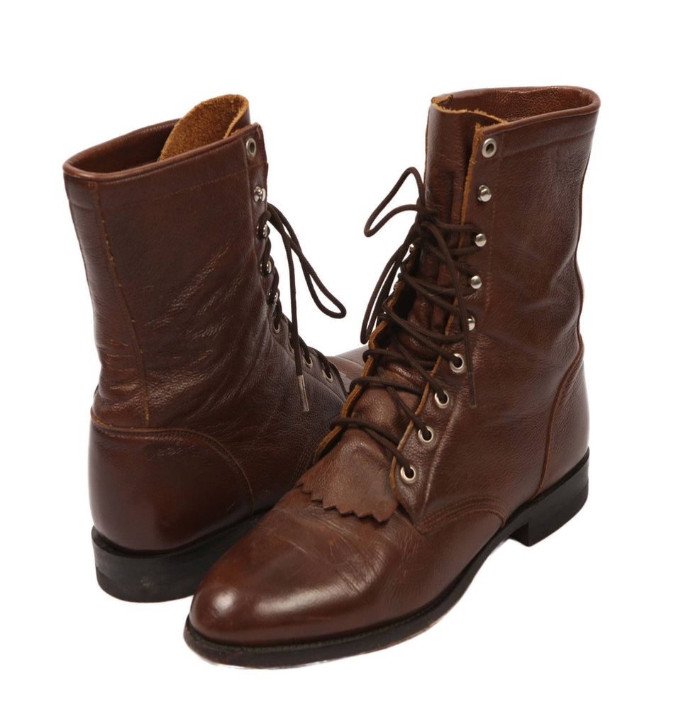 Vintage Walnut Leather Justin Boots