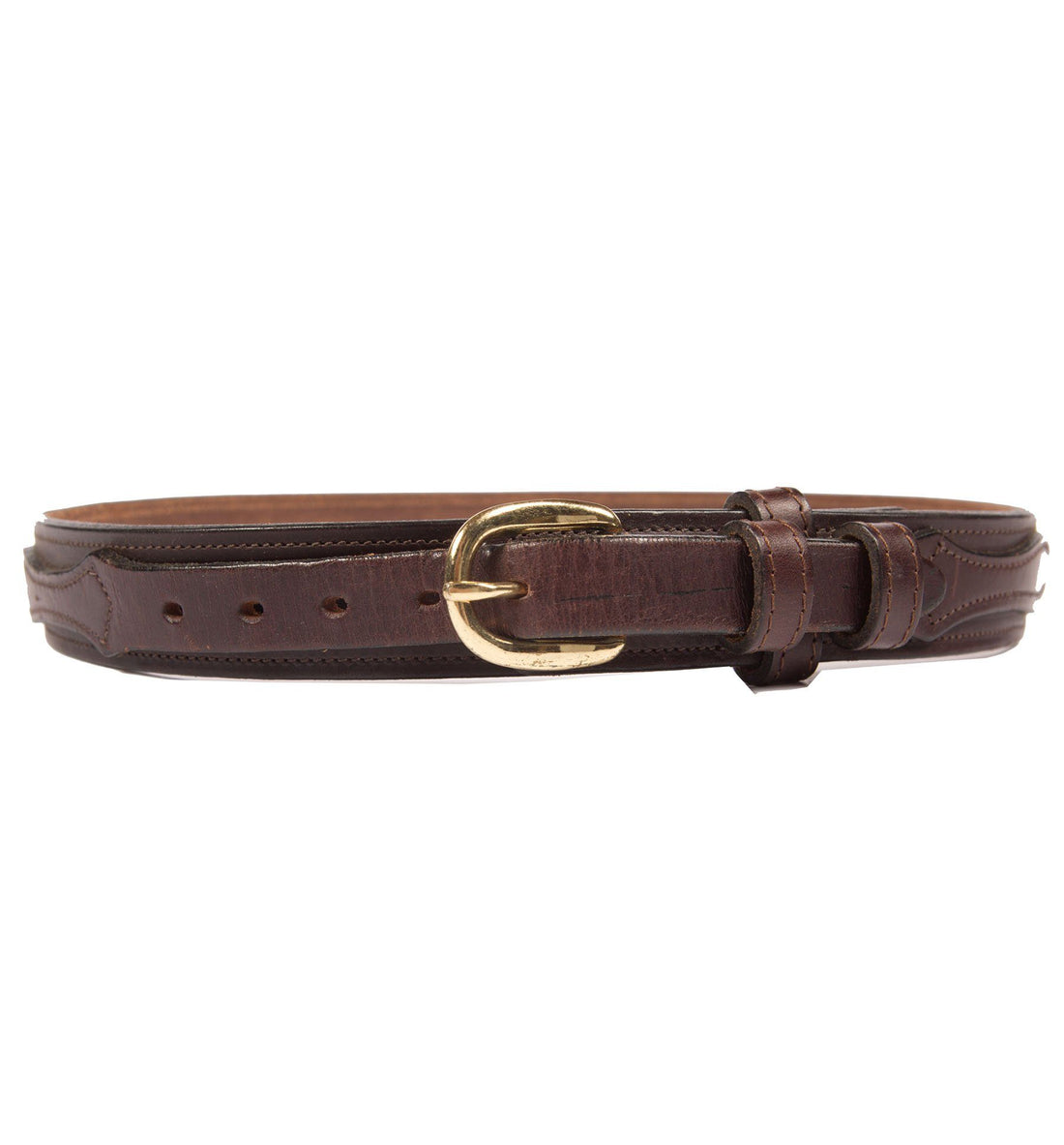 70's Circle y of Yoakman Brown Belt - Vintage - Iron and Resin