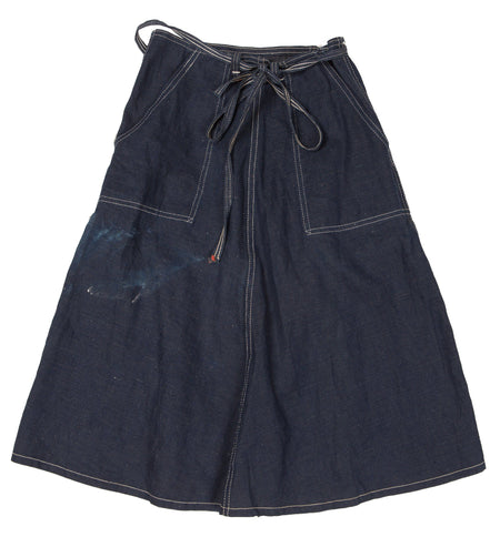 045416f1fbc Vintage 50 s Indigo denim wrap skirt - Vintage - Iron and Resin