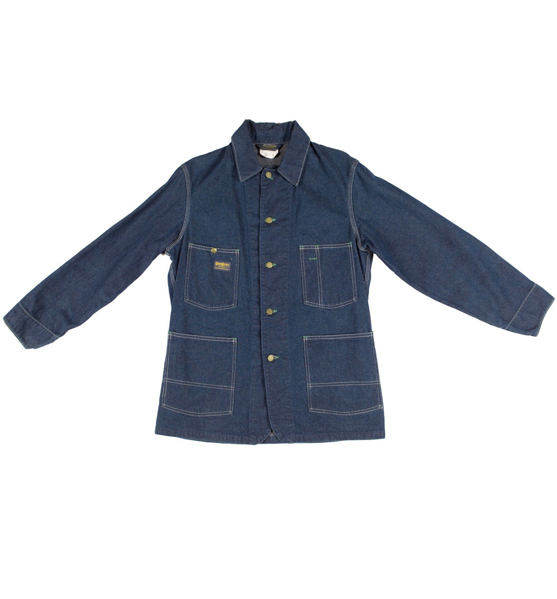 751d2a1a90d ... 40 s Osh Kosh Chore Barn Indigo Denim Jacket - Vintage - Iron and Resin  ...