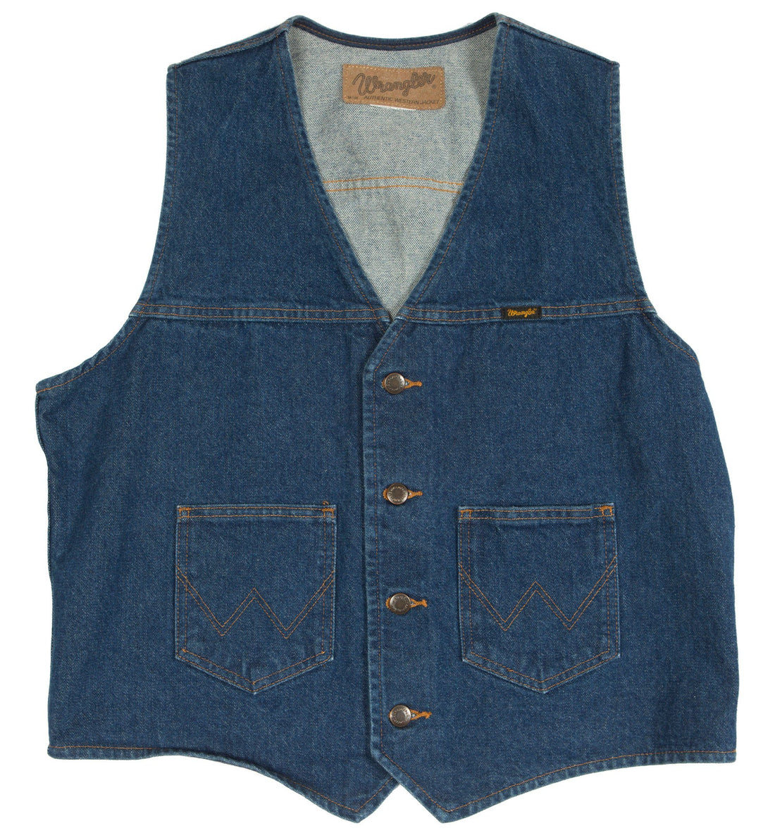 Vintage 80's Denim Wrangler Vest - Vintage - Iron and Resin