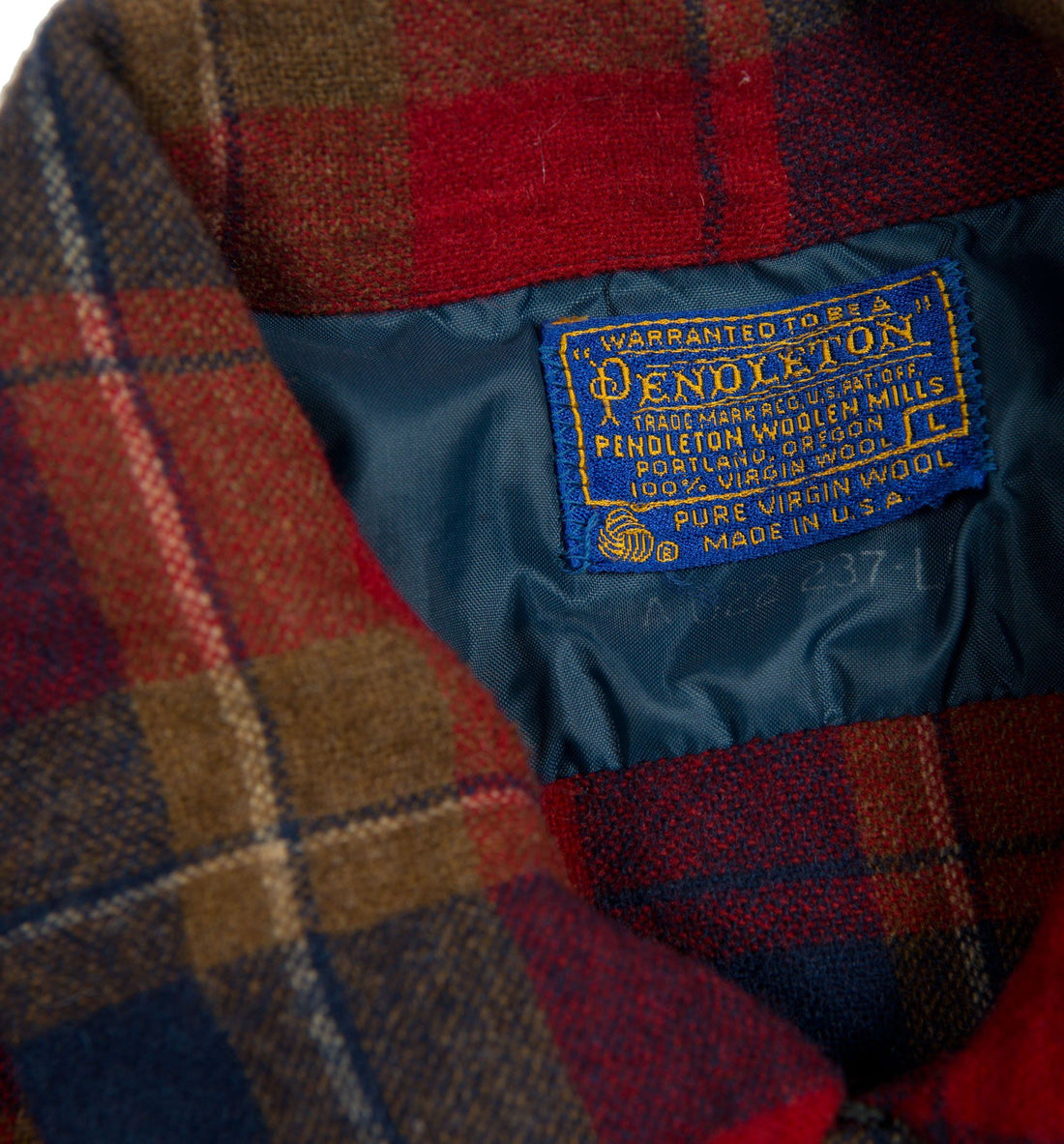 Vintage 70's Plaid Pendleton Flannel - Vintage - Iron and Resin
