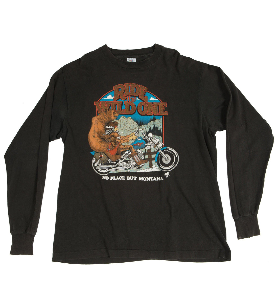 Vintage 80's Wild One Long Sleeve Shirt - Vintage - Iron and Resin