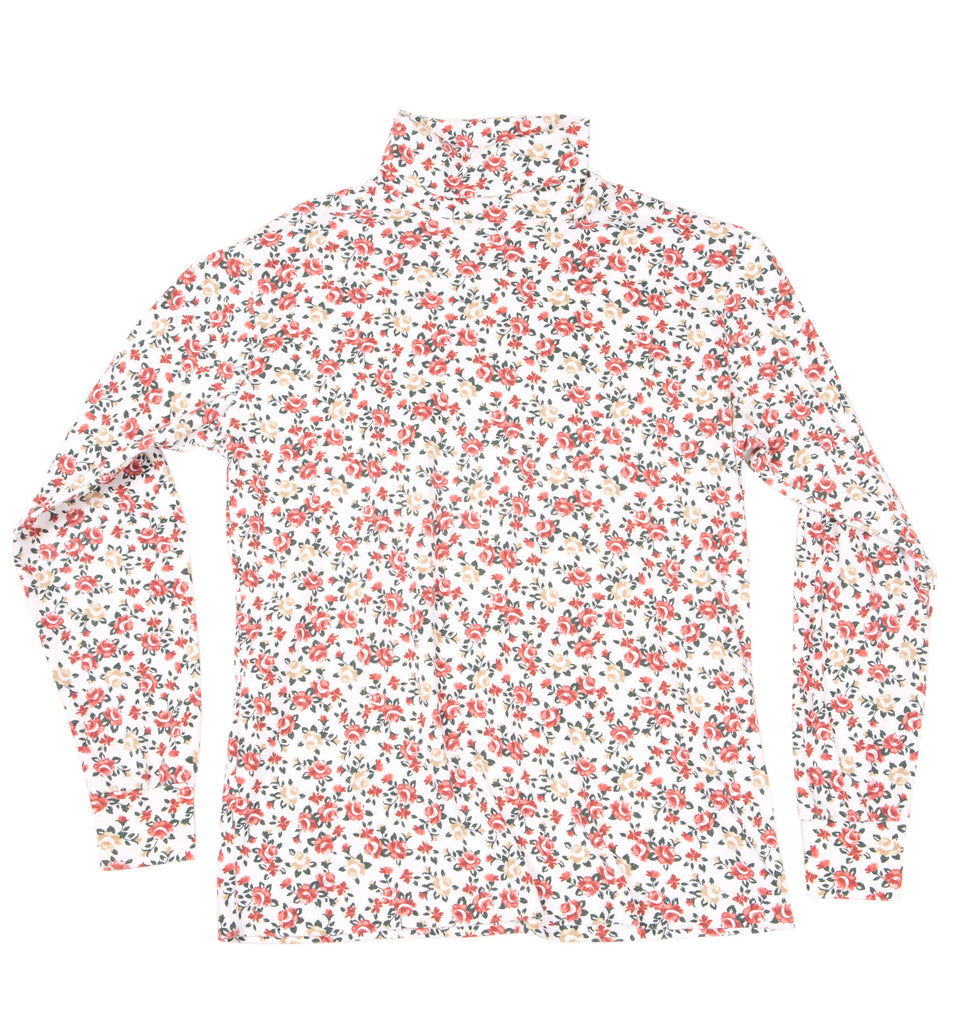 Vintage 80's Floral long sleeve turtleneck - Vintage - Iron and Resin