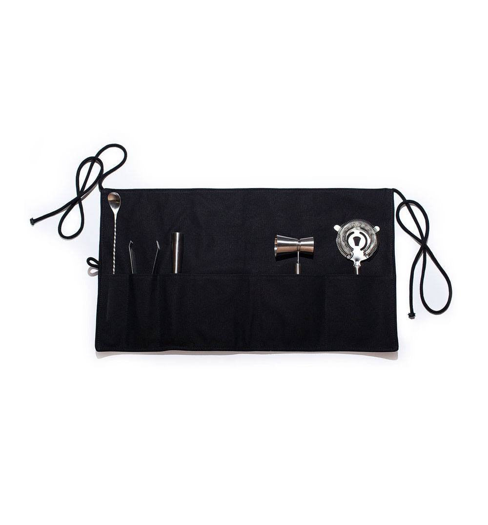 Izola Canvas Bar Apron & Stainless Steel Tools - Kitchenware - Iron and Resin