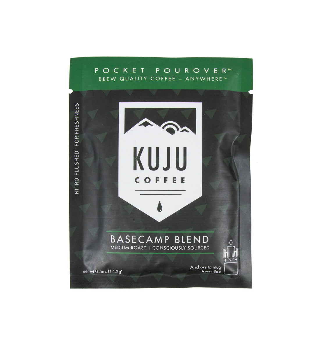 Kuju Coffee Pocket Pourover, Base Camp Blend - Food: Coffee - Iron and Resin