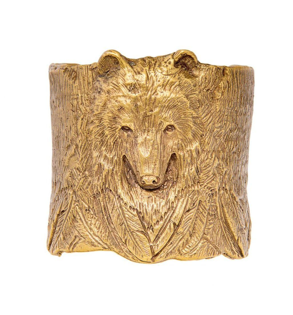 Bear Cuff - Jewelry - Iron and Resin