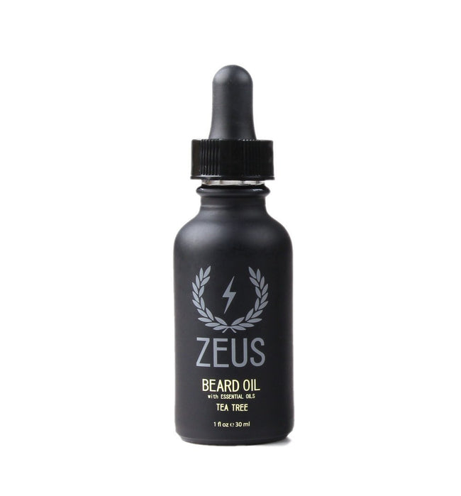 Zeus Beard Oil, Natural Tea Tree 1oz - Grooming: Hair - Iron and Resin