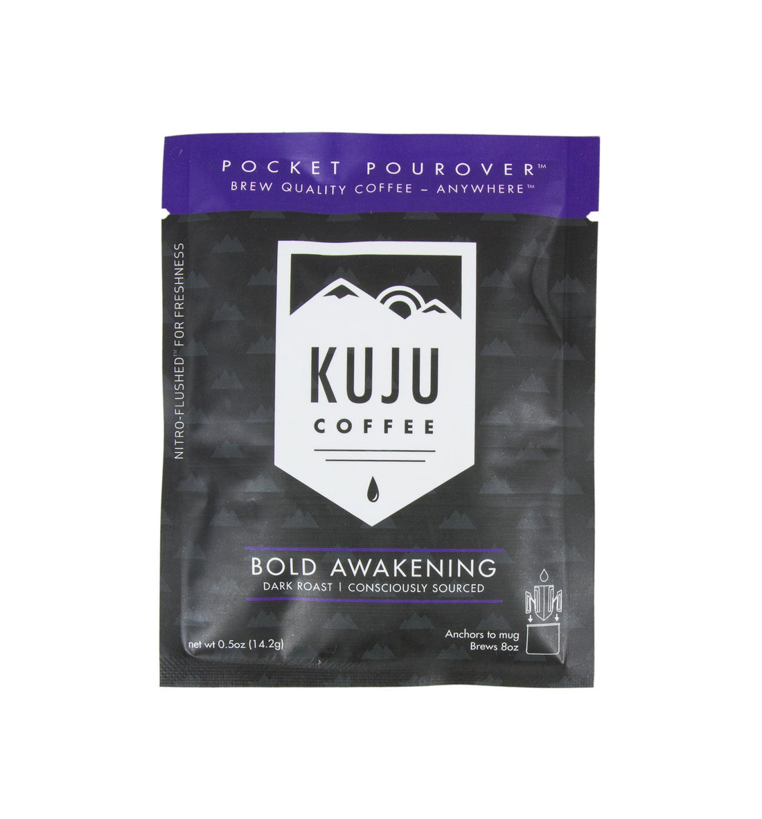 Kuju Coffee Pocket Pourover, Bold Awakening - Food: Coffee - Iron and Resin