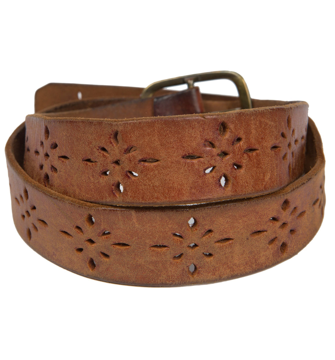 Vintage Leather Tooled Belt - Vintage: Women's - Iron and Resin