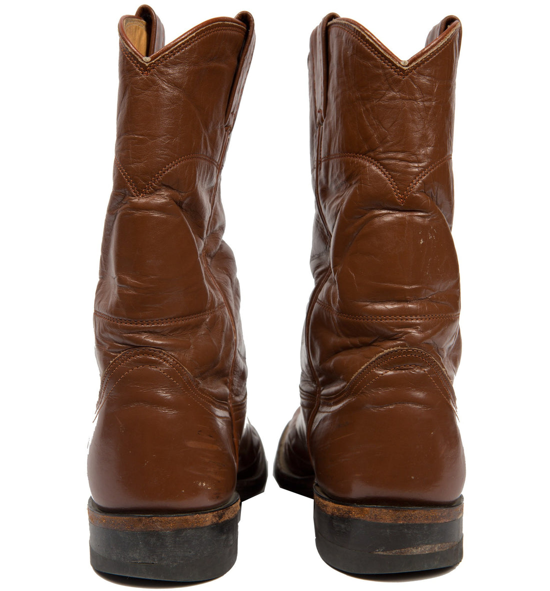 Vintage Nocona Brown Boots, Size 6.5 - Vintage: Women's: Shoes - Iron and Resin