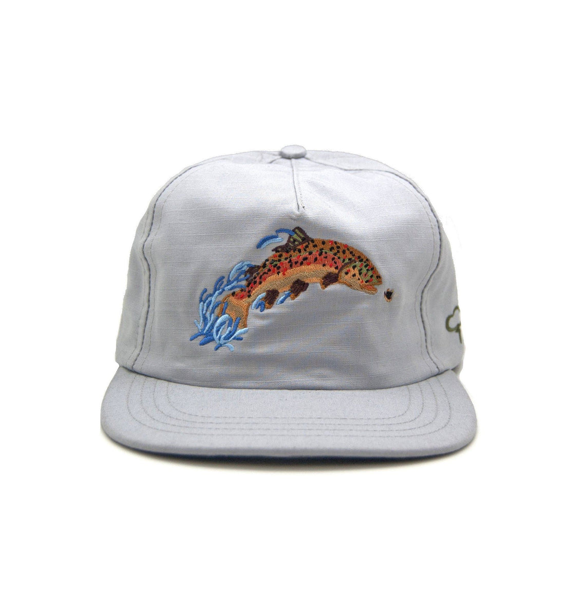 The Ampal Creative Brown Trout Strapback - Gray - Headwear - Iron and Resin