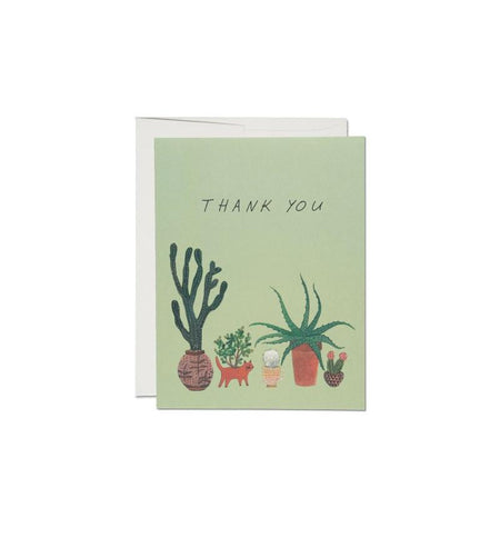 Red Cap Cards, Cactus Thank You - Art/Prints - Iron and Resin
