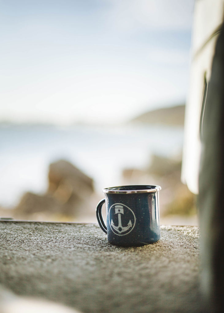 Iron & Resin Camp Mug Blue