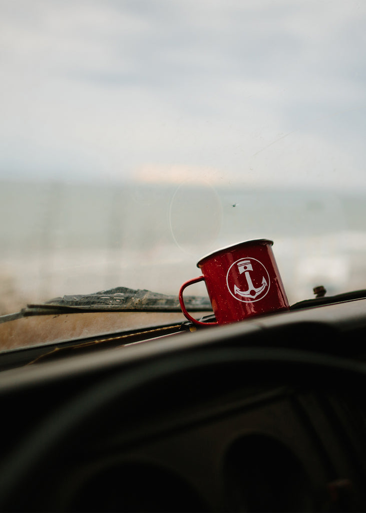 Iron & Resin Red Camp Mug