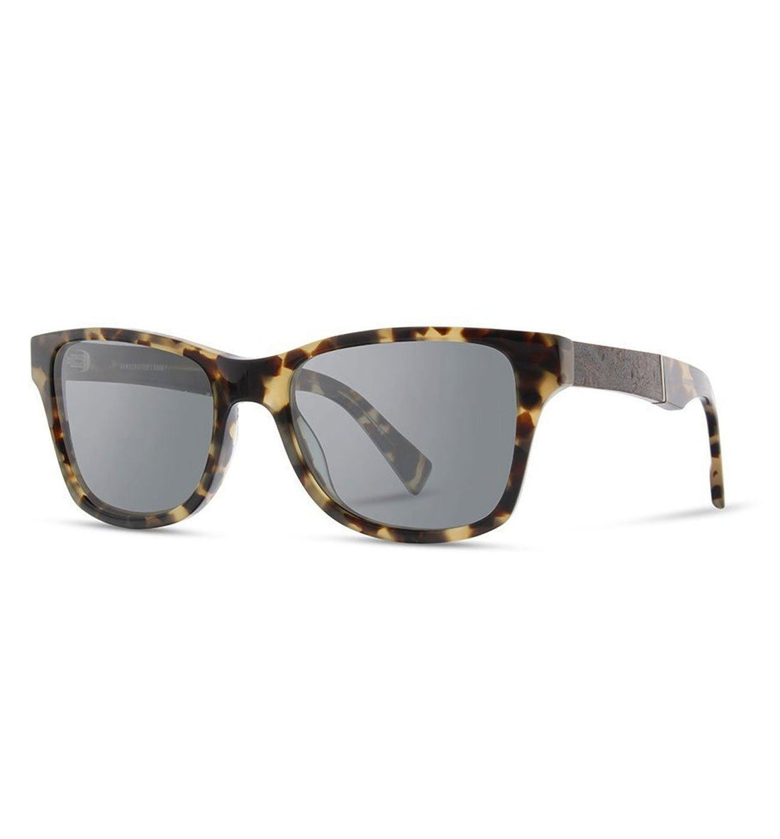 Shwood Canby, Havana // Elm Burl - Grey Polarized - Sunglasses - Iron and Resin