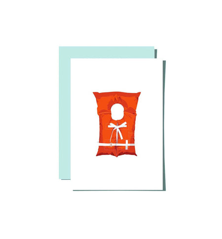Roo Kee Roo - Life Jacket Card - Art/Prints - Iron and Resin