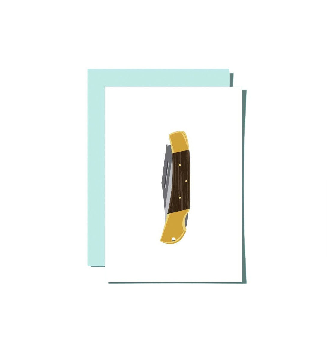 Roo Kee Roo - Pocket Knife Card - Art - Iron and Resin