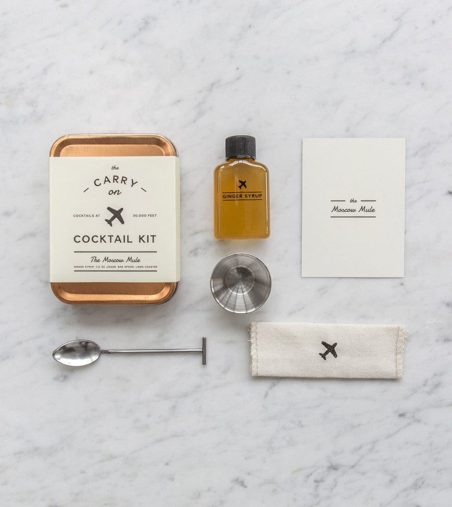The Moscow Mule Carry On Cocktail Kit - Kitchen/Bar - Iron and Resin