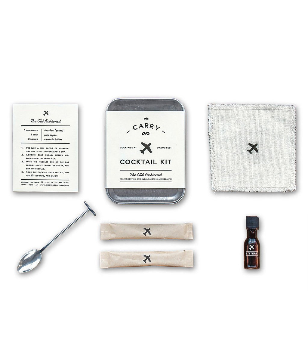 THE OLD FASHIONED Carry On Cocktail Kit - Kitchenware - Iron and Resin