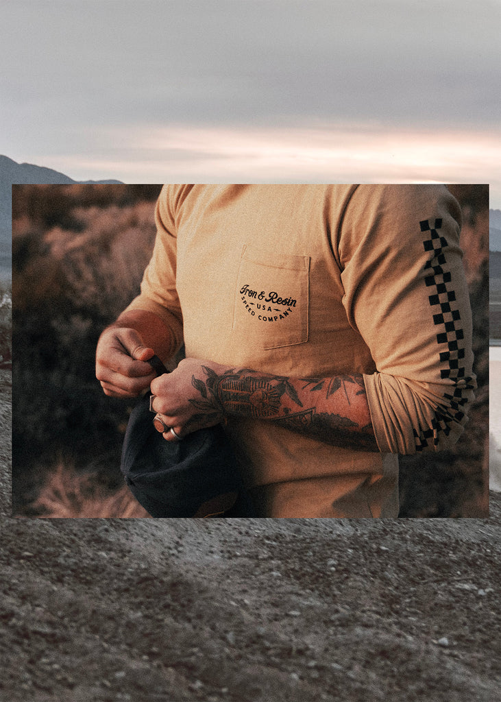 Iron & Resin Champion Long Sleeve Tee in California Gold