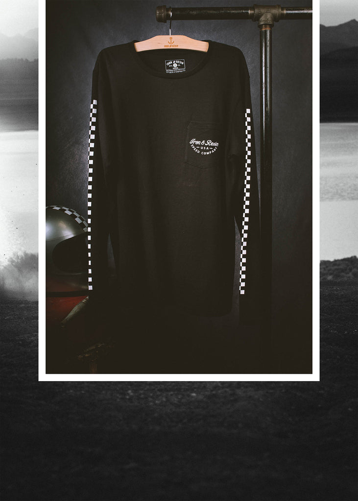 Iron & Resin Champion Long Sleeve Tee in Black