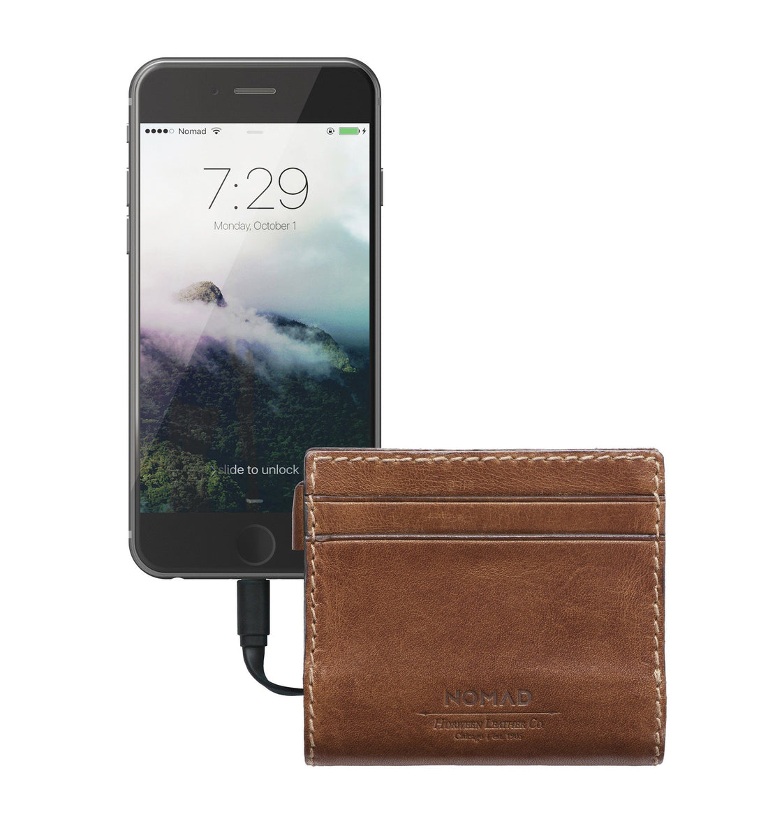 Nomad Battery Slim Wallet - Rustic Brown - Carry Essentials - Iron and Resin