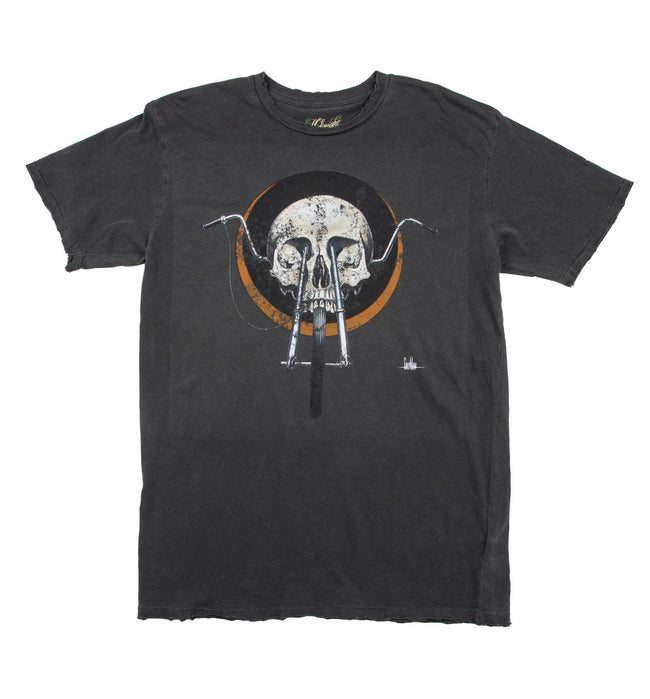 Midnight Rider Chopper Skull Tee - Apparel: Men's: Graphic T-Shirts - Iron and Resin