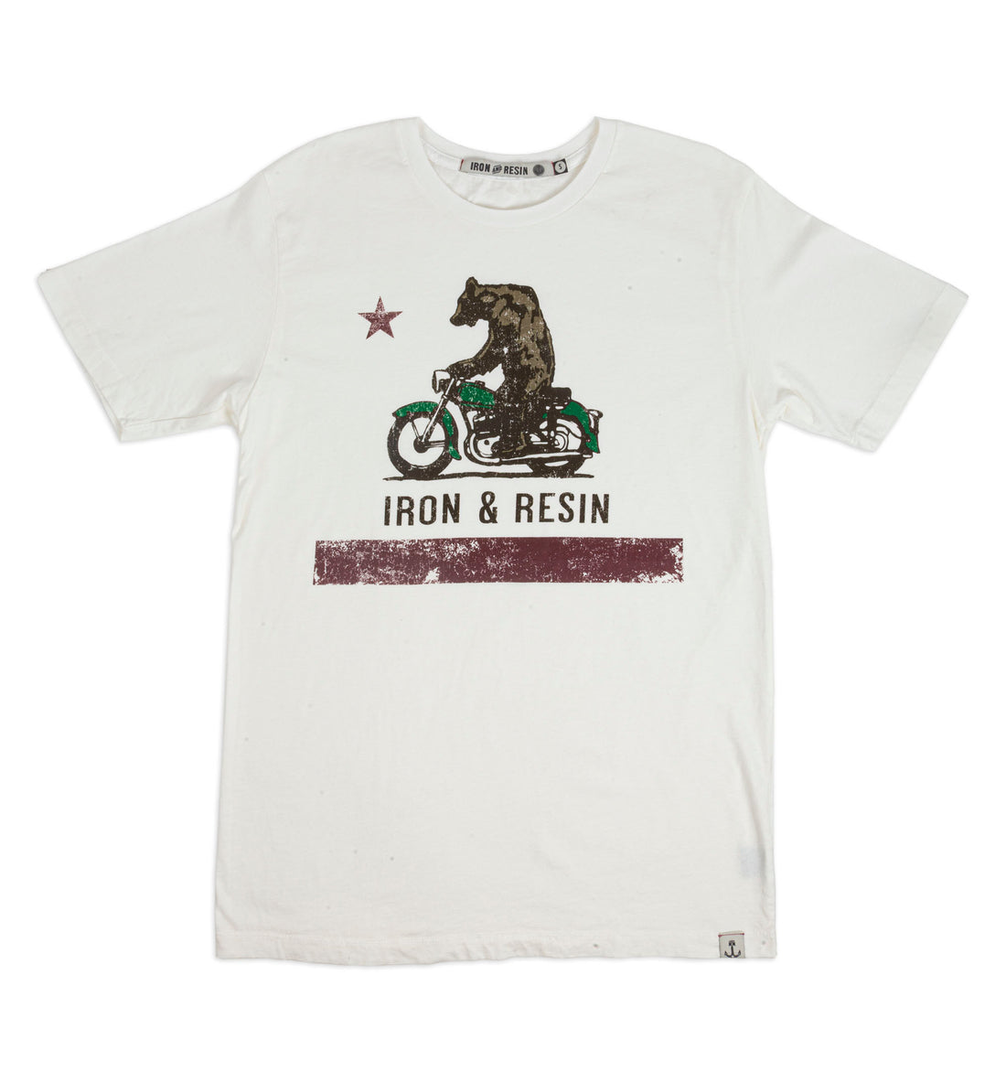 Moto Bear Tee - Tops - Iron and Resin