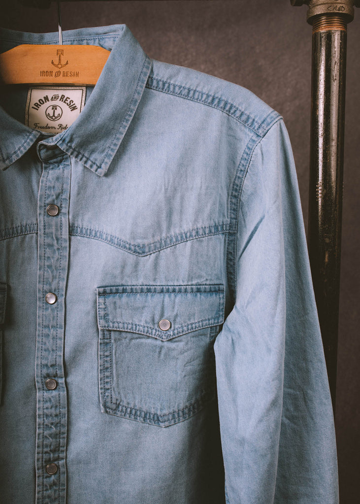 Iron & Resin Bleached Cody Shirt Chest Pocket
