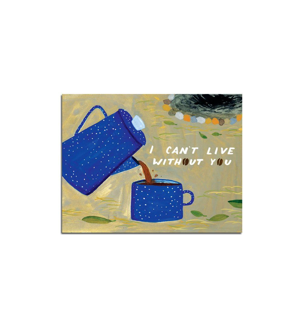 Small Adventure Coffee Love Card - Art/Prints - Iron and Resin