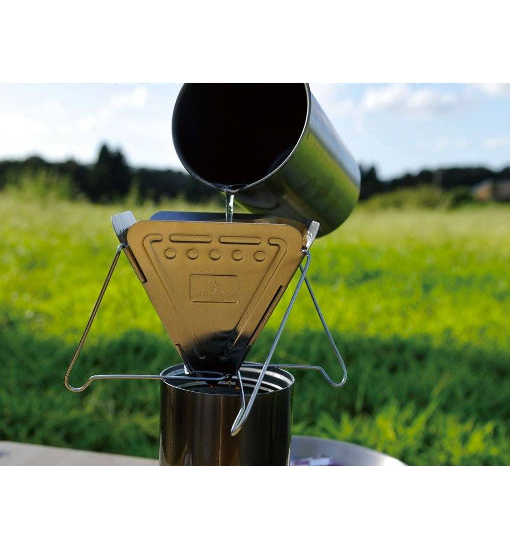 Snow Peak Collapsible Coffee Drip - Outdoor Living/Travel - Iron and Resin
