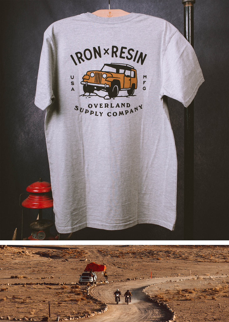 Iron & Resin Convoy Tee Back Graphic in Heather Grey