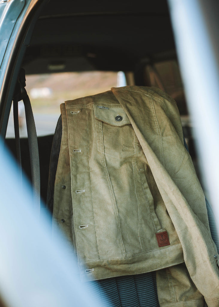 Iron & Resin Corduroy Rambler Jacket in Sand Color Men's Outerwear