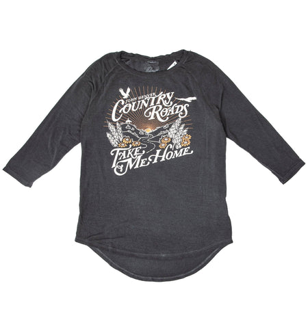 Midnight Rider - Country Roads Womens Long Sleeve - Tops - Iron and Resin