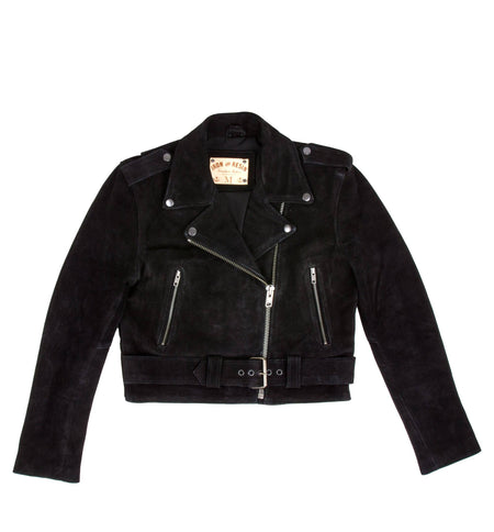 INR x Understated Leather Women's Shrunken Moto Leather Jacket - Outerwear - Iron and Resin