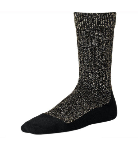 Red Wing Deep Toe Capped Wool Sock, Black 9-12