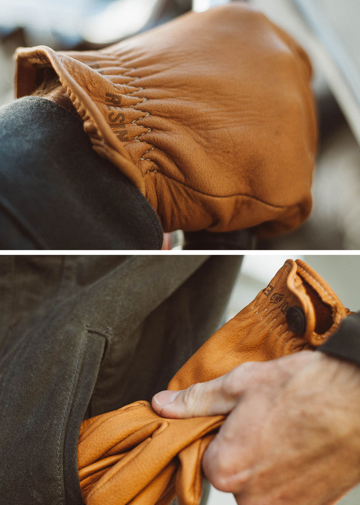 Iron & Resin Deerskin Roper Super Soft Moto Gloves