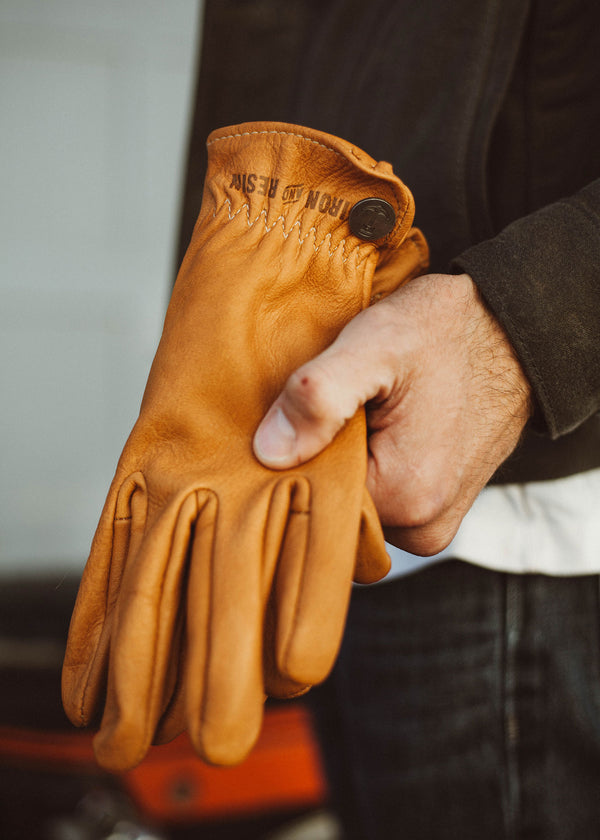 Iron & Resin Deerskin Roper Glove Made in the USA