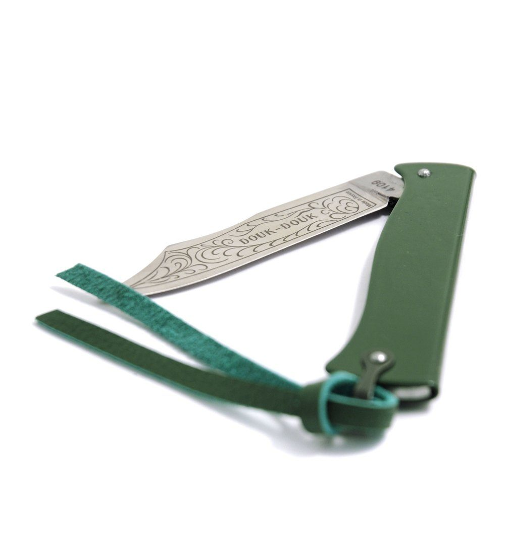 Douk-Douk Knife w/ case Green - Outdoor Living/Travel - Iron and Resin
