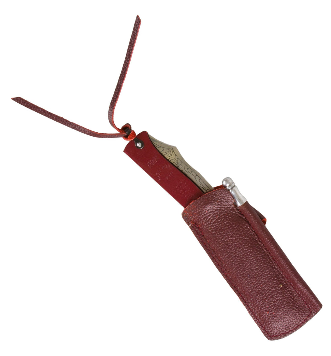 Douk-Douk Knife w/ leather case Red - Outdoor Living/Travel - Iron and Resin