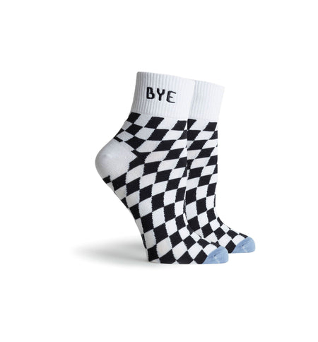 Richer Poorer Inc Drive Ankle Sock - White Blue - Socks/Underwear - Iron and Resin