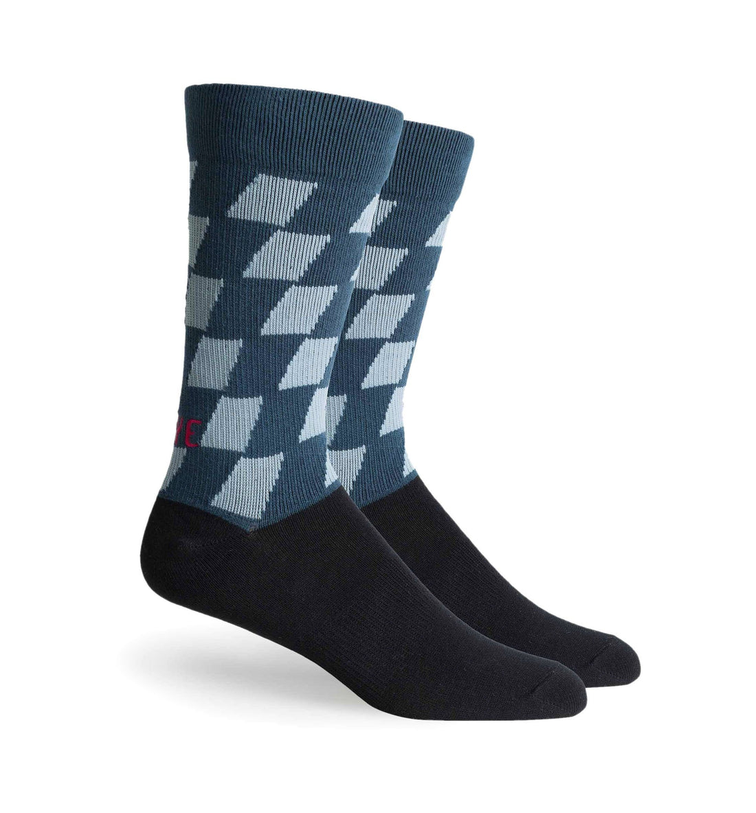 Richer Poorer Inc Drive Sock - Black Teal - Socks/Underwear - Iron and Resin