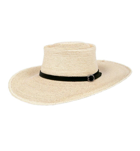 Sunbody Elko Hat w/ Leather Band - Accessories: Headwear: Women's - Iron and Resin
