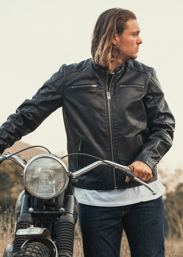 Iron & Resin Elsinore Leather Motorcycle Jacket